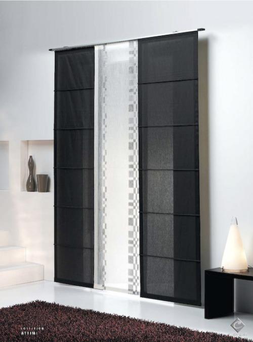 Tende per il soggiorno lunghe doppio velo pannello - Tende a pannello design ...