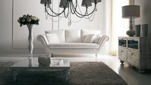 Divani classici tre posti eleganti reclinabili for Della corte arredamenti