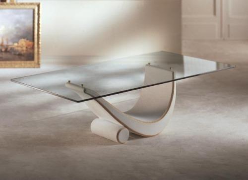 soggiorno: tavolini in cristallo, eleganti, raffinati