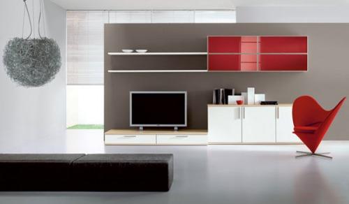 Pareti soggiorno colori mobili attrezzate for Casa ingross by visma arredo